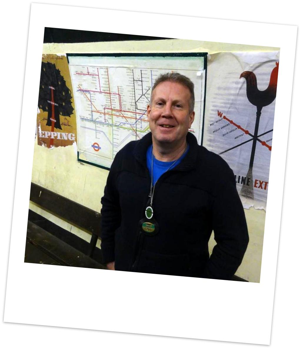 Steve at Aldwych underground station